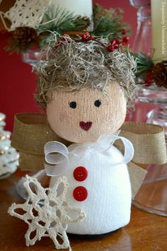 Make a super sweet sock angel doll for any season or occasion! Follow the easy DIY directions to create a treasure of your own. Come see!!