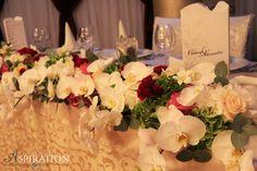 Prezidiu cu orhidee phalaenopsis Aspiration Events Wedding Designs, Floral Wedding, Event Planning, Events, Table Decorations, Inspiration, Home Decor, Biblical Inspiration, Decoration Home