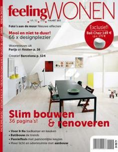 Our ball chair has made the cover of Feeling Wonen - february 2013 issue