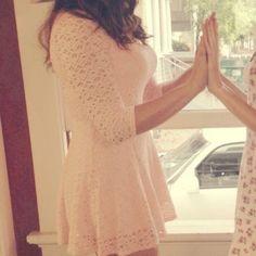 Pink summer dress Cute crotchet dress only worn twice! Forever 21 Dresses Mini
