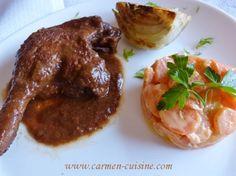 Cuisse de canette sauce au Porto   http://www.carmen-cuisine.com/article-cuisse-de-canette-sauce-au-porto-116530161.html