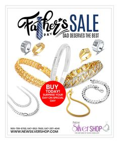 Father's Day Special #Silver & #GoldJewellery Available @ #NewSilverShop  Come & Shop with us for Father's Day Gifts for your amazing Dad..!!  New Silver Shop & Jewellers - located at 7955 Torbram Road, #24, #Brampton #Ontario L6T 5B9 #Canada  Ph 905-799-6700, 647-862-7600, 647-297-4041  #Jewellers #Jewellery #SilverJewellery #JewelleryShop #SilverJewelleryShop  #JewellersinBrampton #SilverJewelry #SilverJewelleryinBrampton #Gold  #GoldJewelleryShop #GoldJewelry #GoldJewelleryinBrampton Sterling Silver Jewelry, Gold Jewelry, Jewellery, Jewelry Shop, Jewelry Stores, Father's Day Specials, Silver Shop, New Day, Fathers Day Gifts