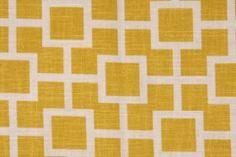 Robert Allen Cats Cradle Printed Linen Blend Drapery Fabric in Sunshine $16.95 per yard  CODE: 248ra 36.1  Price: $16.95