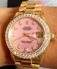 ~~Pink Rolex with diamonds.. YES PLEASE!!~~