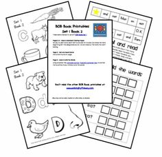 Educational Freebie: BOB Book Printables (Set 1, Books 1-3)