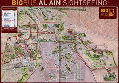 https://flic.kr/p/E5hNJf | Big Bus Al Ain; 2015_2, illustrated map, Abu Dhabi, UAE | tourism travel brochure | by worldtravellib World Travel library