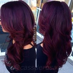 There are some type of Burgundy Hair Color such as Classic, vivid or old burgundy, maroon or oxblood. Here We have 16 Best Burgundy Dark Red Hair Color Ideas Violet Hair Colors, Hair Color Purple, Red Violet Hair, Reddish Purple Hair, Hair Colours, Color Red, Mahogany Hair Colors, Red Velvet Hair Color, Cherry Cola Hair Color