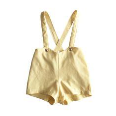 The+Chloe+Custard+Yellow+Linen+Shortalls+by+Lucca+Valentine+for+Paush