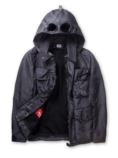 b042171e41e9 NYSACK High Tenacity Nylon Broad Cloth Goggle Jacket in Dark Grey Ermanno  Scervino, Veste Coupe