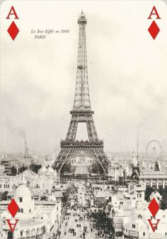 We love this picture of the 1900 Paris exposition and the Eiffel Tower!