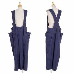 リミフゥLIMIfeu ドット柄織りサイドポケットストラップスカート 青S