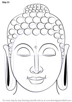 Drawing Faces Learn How to Draw Buddha Face (Buddhism) Step by Step : Drawing Tutorials Budha Painting, Mural Painting, Buddha Drawing, Buddha Kunst, Buddha Face, Buddha Head, Buddhist Art, Buddha Buddhism, Indian Art Paintings