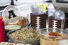 DIY Football paint cans for your tailgating party #tailgate #tailgating #gameday