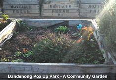 Dandenong pop up park community gardens
