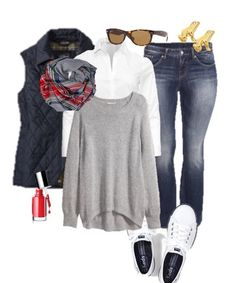 Casual outfit...plus size ladies and super cute!