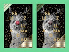 Interactive Gift Wrap : holiday wrapping paper with a llama who wants to be Rudolph. When you rub his nose, it turns red.