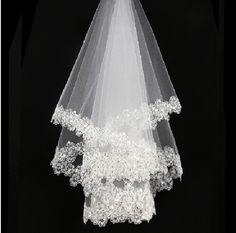 อุปกรณ์จัดงานแต่งงานvelosเจ้าสาวผ้าคลุมหน้าเจ้าสาว1.5เมตรสั้นลูกไม้แต่งงานปกคลุมveu de n oiva c urto