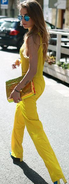 Maffashion Yellow Jumpsuit