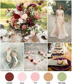 Color Series #22 - Marsala + Blush + Sage