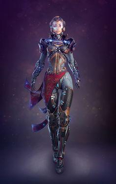Sci-fi girl v.1 by Alex Vasin 1212px X 1920px