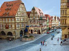 Romantik Yol Almanya #Rothenburg
