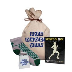 Run Daddy Run Canvas Gift Bag. Perfect for the Running Dad in your life!