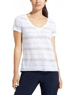 Dot Stripe Daily Tee | Athleta
