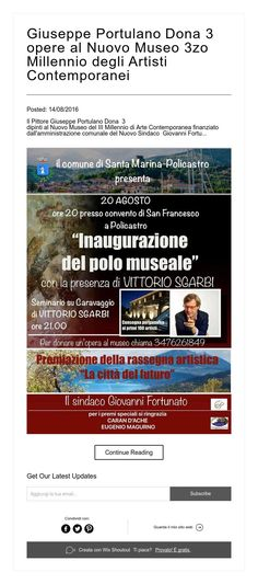 Giuseppe Portulano  Dona  3 opere  al Nuovo Museo 3zo Millennio degli Artisti…