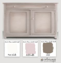 Colorways with Leslie Stocker » Experiment in Pink. Annie Sloan Chalk Paint®. Antoinette. Coco. Old White. Sideboard.