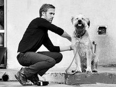 Ryan Gosling + goofy dog = melt