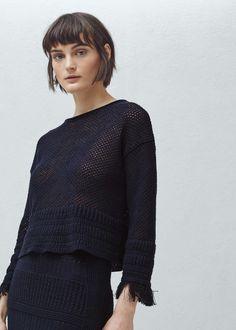 Jersey calado - Cárdigans y jerséis de Mujer | MANGO