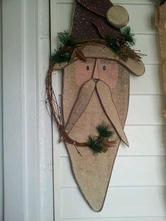Wooden snowman head.