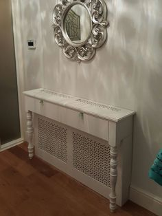 radiator cover console table more – Wood Design - Einrichtungsideen Diy Radiator Cover, Large Radiator Covers, Radiator Shelf, Casa Clean, Hallway Decorating, Wood Design, Design Desk, My New Room, Console Table