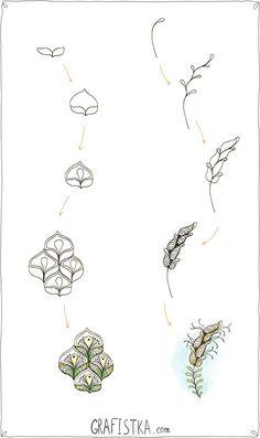 Minták Doodle virágok, mérföldkő leckék 20