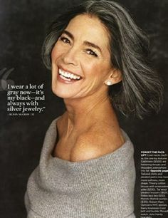 """Susan McGraw: """"I wear a lot of gray now -- it's my black -- and always with silver jewelry."""""""