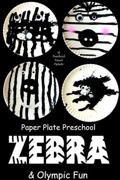 Fun! Zebra art project for preschoolers! Great fine motor exercise & Olympics tie-in!  Plus, preschoolers canmake it all by themselves!!