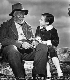 *UNCLE REMUS (James Baskett) & JOHNNY (Bobby Driscoll) ~ Song of the South, will not re-release the movie with their name on it because it depicts a good relationship between a black man and white boy. Who in Disney is in the CFR? Disney Princess Quotes, Disney Songs, Disney Love, Disney Facts, Disney Quotes, Walt Disney, Disney Live Action Films, Live Action Movie, Bobby Driscoll