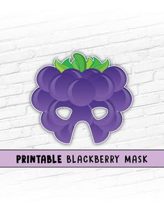 School / Church play coming up and need cheap and easy props? This listing is for a BLACKBERRY Printable Mask