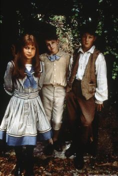 Kate Maberly (Mary Lennox), Heydon Prowse (Colin Craven) & Andrew Knott (Dickon), The Secret Garden directed by Agnieszka Holland (1993)