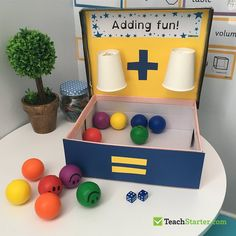 10 Easy, Simple Addition Activities for Kids Are your students frustrated with the concept of addition? Make addition fun in the classroom, or even at home, with these creative, easy and effective hands-on activities. Maths Eyfs, Numeracy Activities, Addition Activities, Addition Games, Math Addition, Addition And Subtraction, Preschool Learning, Kindergarten Activities, Math Games