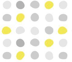 Gray Yellow Dots fabric by wren_leyland on Spoonflower - custom fabric
