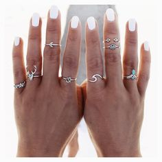 Jewelry accessories - Trend to try: Midi Rings - Jewelry accessories - Tren . - Jewelry accessories – trend to try: Midi Rings – jewelry accessories – trend to try: Midi Rin - Cute Jewelry, Silver Jewelry, Silver Rings, Gold Jewellery, Jewlery, Jewellery Shops, Jewelry Box, Swarovski Jewelry, Cheap Jewelry