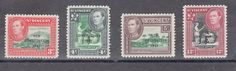 St. Vincent 1951 S.G 184-87 New Constitution, King George VI, MH set