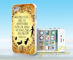 Peter Pan Quote Vintage - Print on hardplastic for iPhone 4/4s and 5 case, Samsung Galaxy S3/S4 case.