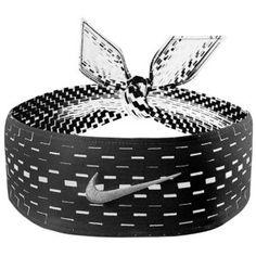 NIKE DRI-FIT HEAD TIE IN BLACK/WHITE Nike Tie Headbands, Athletic Headbands, Sports Headbands, Athletic Outfits, Athletic Wear, Athletic Clothes, Basketball Accessories, Nike Wear, Nike Heels