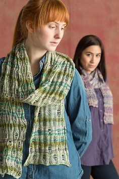 Great summer project and free knitting pattern too — Classic Elite Yarns Bella Lino Drop Stitch Scarf.