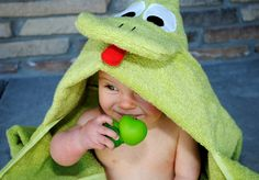 Frog Hooded Towel by Crazy Little Projects and Giveaway