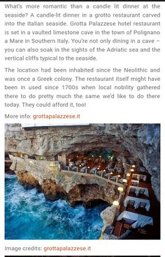 Italy restaurant cave