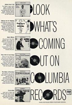 Music Album Ad, Columbia Records, 1962.
