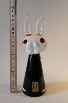 Collectors item Pupu by Armando Jacobino for Kumela signed glass bunny 1968 Finland by NordicFiesta on Etsy